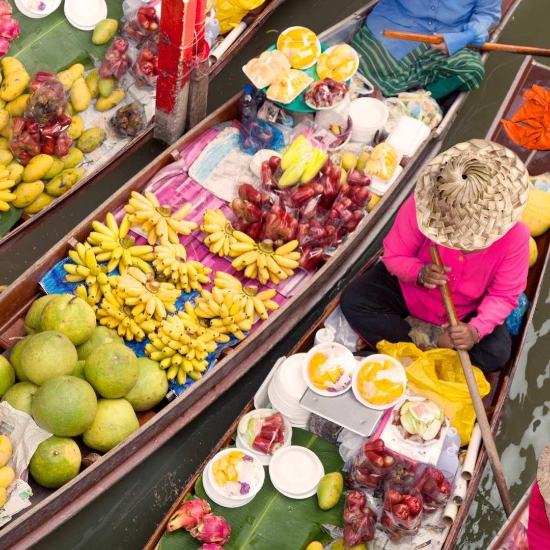 colourful floating market
